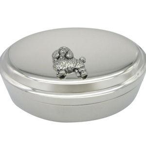Poodle Dog Pendant Oval Trinket Jewelry Box